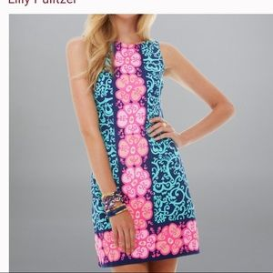 Lilly Pulitzer Delia Navy and Pink Shift Dress 00